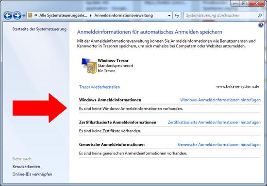 Windows Netzlaufwerk Anmeldung speichern